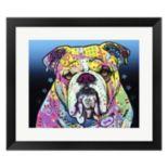 Metaverse Art The Bulldog Framed Wall Art by Dean Russo