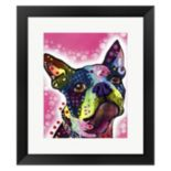 Metaverse Art Boston Terrier Framed Wall Art by ?Dean Russo