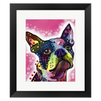 Metaverse Art Boston Terrier Framed Wall Art by Dean Russo
