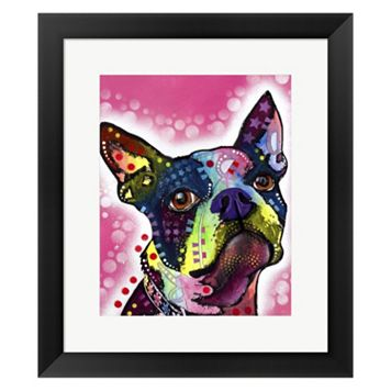 Metaverse Art Boston Terrier Framed Wall Art by ​Dean Russo