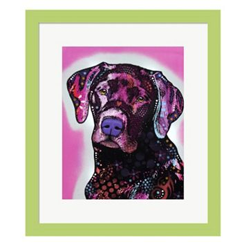 Metaverse Art Black Lab Framed Wall Art by ​Dean Russo