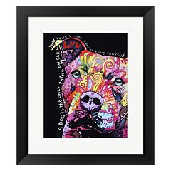 Metaverse Art Thoughtful Pit Bull 1 Framed Wall Art by ​Dean Russo
