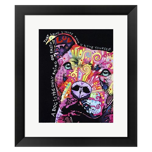 Metaverse Art Thoughtful Pit Bull 1 Framed Wall Art by Dean Russo