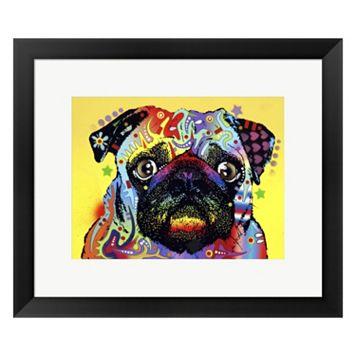Metaverse Art Pug Framed Wall Art by Dean Russo