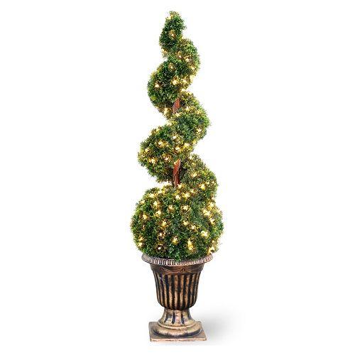 """National Tree Company Pre-Lit 54"""" Artificial Cedar Spiral Tree"""