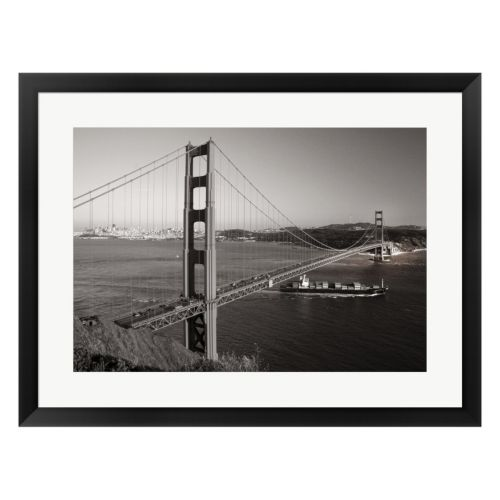 Metaverse Art Golden Gate Framed Wall Art