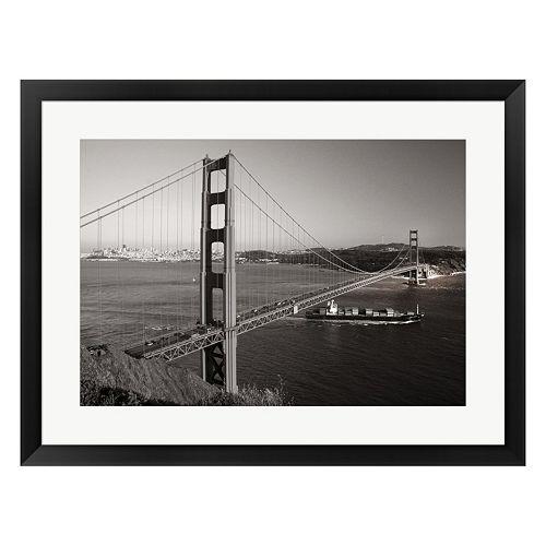 Metaverse Art Golden Gate Framed Wall Art