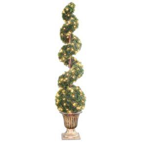 """National Tree Company Pre-Lit 66"""" Artificial Cedar Spiral Tree"""