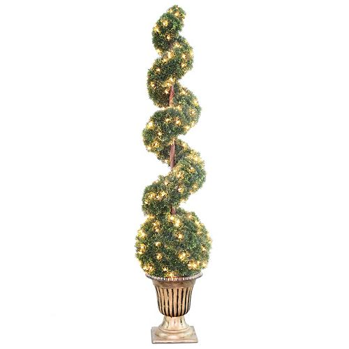 "National Tree Company Pre-Lit 66"" Artificial Cedar Spiral Tree"
