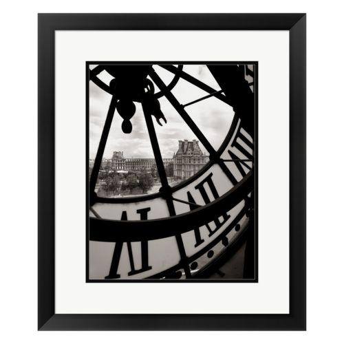 Metaverse Art Big Clock Framed Wall Art