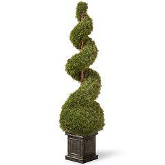 National Tree Company 48' Square Planter Artificial Cedar Plant