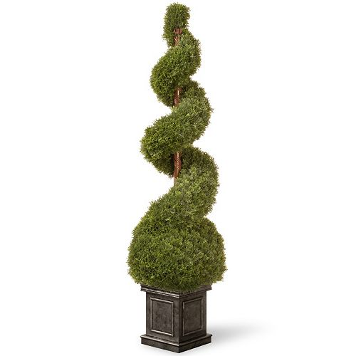 """National Tree Company 48"""" Square Planter Artificial Cedar Plant"""