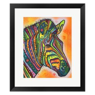Metaverse Art Zebra Framed Wall Art