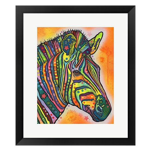 Metaverse Art Zebra Framed Wall Art