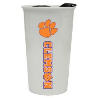 Clemson Tigers Double-Walled Ceramic Tumbler