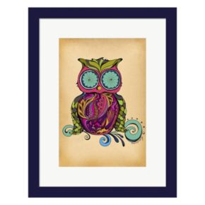 Metaverse Art Owl Framed Wall Art