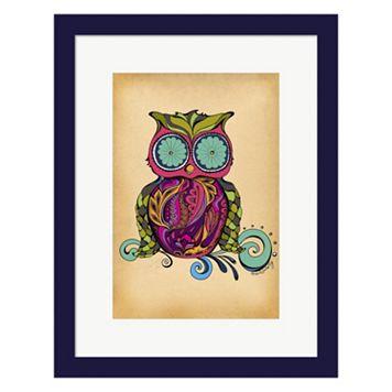 Metaverse Art Owl Framed Wall Art