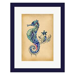 Metaverse Art Seahorse Framed Wall Art