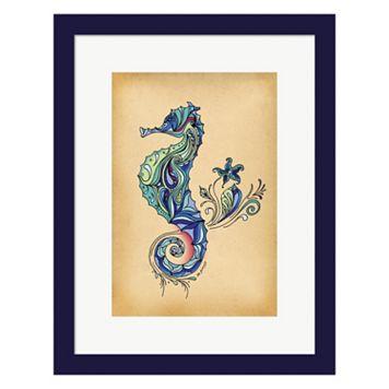 Metaverse Art Seahorse Framed Wall Art
