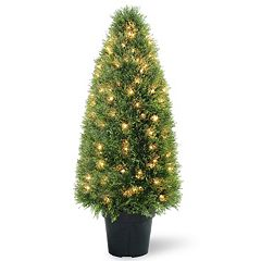National Tree Company Pre-Lit 36' Artificial Upright Juniper Tree