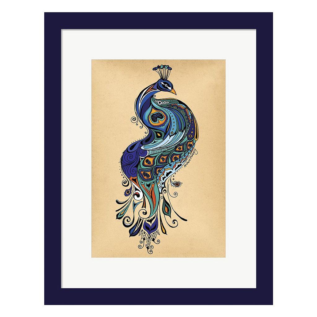 Metaverse Art Peacock Framed Wall Art