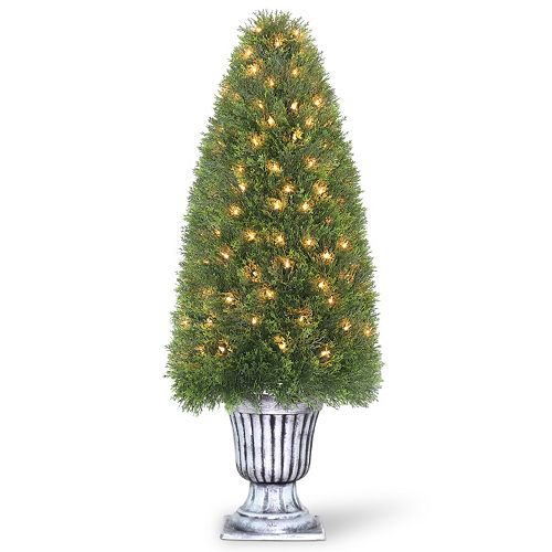 "National Tree Company Pre-Lit 48"" Artificial Elegant Upright Juniper Plant"