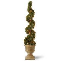 National Tree Company Pre-Lit 48' Artificial Juniper Spiral Tree