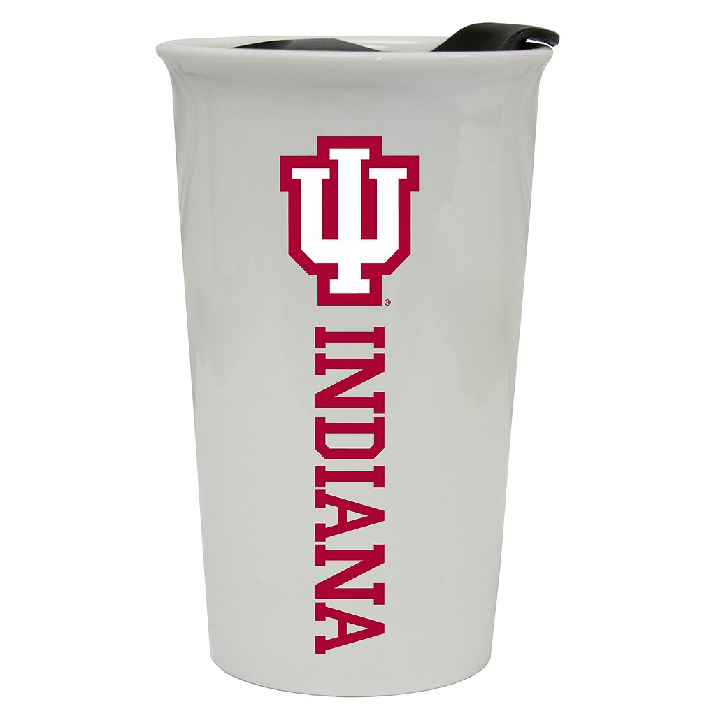 Indiana Hoosiers Double-Walled Ceramic Tumbler