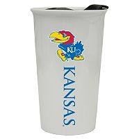 Kansas Jayhawks Double-Walled Ceramic Tumbler