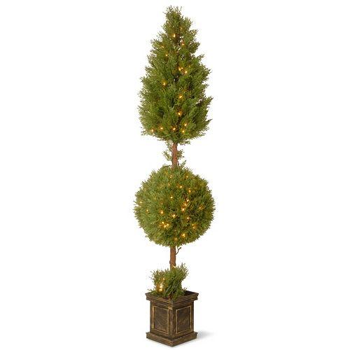 "National Tree Company Pre-Lit 72"" Artificial Juniper Ball Plant"