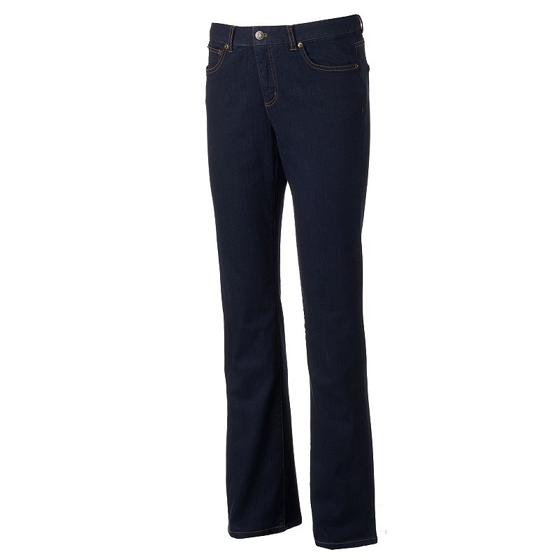 Women's Chaps Dark Wash Straight-Leg Jeans