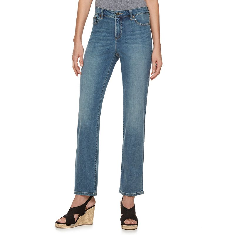 Women's Chaps Dark Wash Straight-Leg Jeans