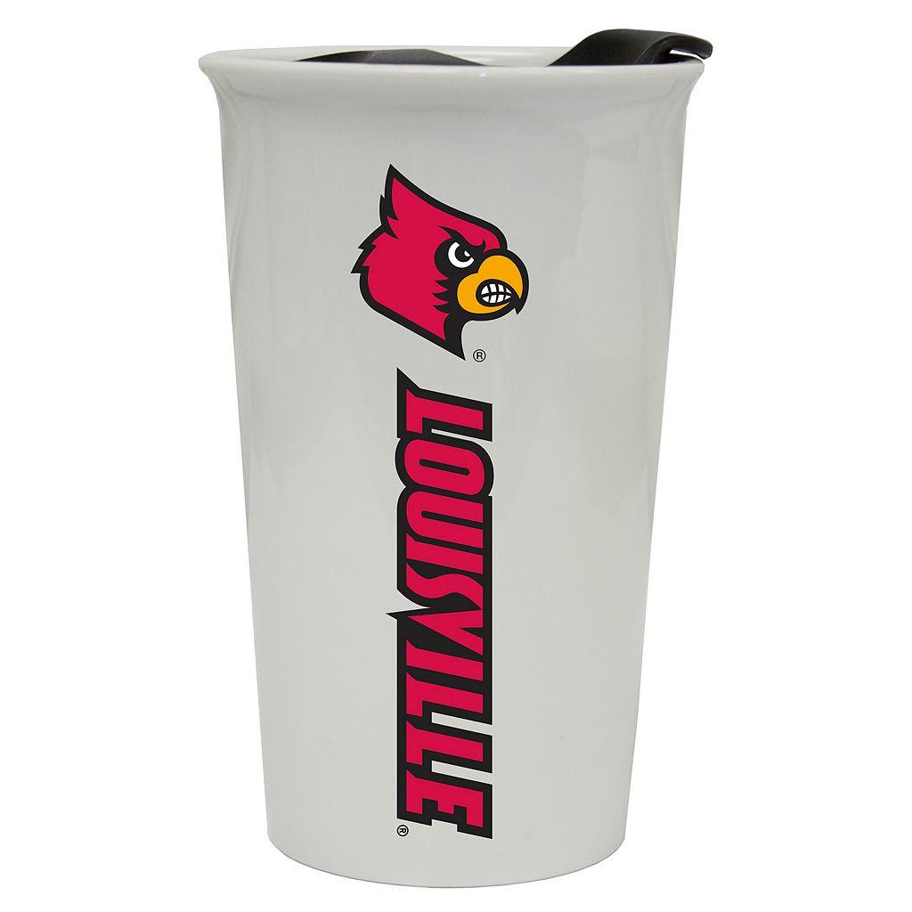 Louisville Cardinals Double-Walled Ceramic Tumbler