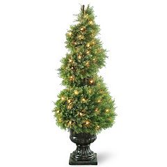 National Tree Company Pre-Lit 48' Artificial Wide Juniper Spiral Tree