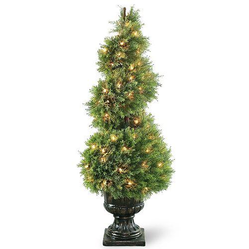 "National Tree Company Pre-Lit 48"" Artificial Wide Juniper Spiral Tree"