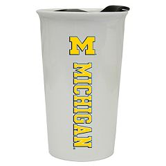 Michigan Wolverines Double-Walled Ceramic Tumbler