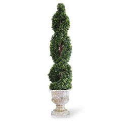 National Tree Company 54' Artificial Double Cedar Spiral Plant