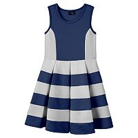 Girls 7-16 & Plus Size 2HIP Striped Scuba Skater Dress