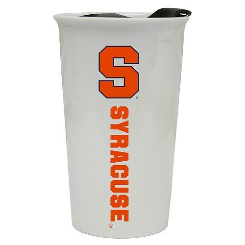 Syracuse Orange Double-Walled Ceramic Tumbler