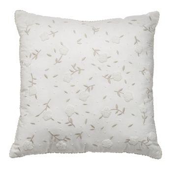LC Lauren Conrad Beaded Flower Throw Pillow