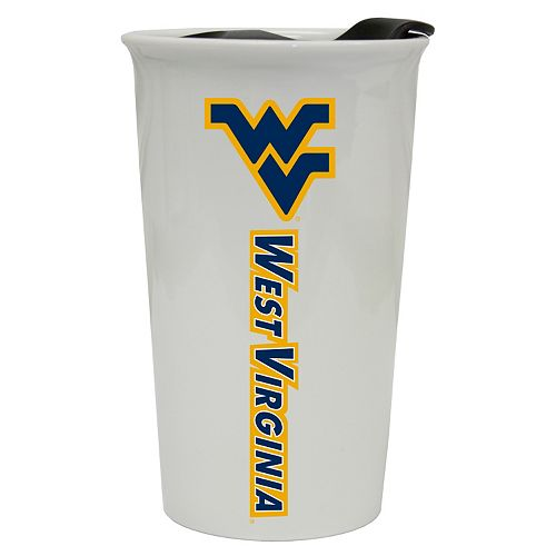 West Virginia Mountaineers Double-Walled Ceramic Tumbler