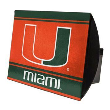 Miami Hurricanes Trailer Hitch Cover