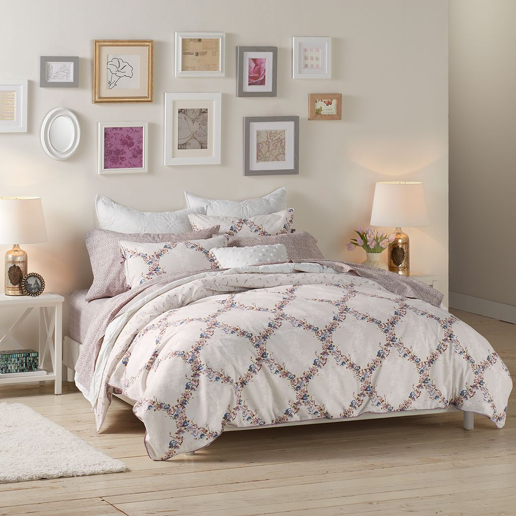 LC Lauren Conrad Floral Trellis Comforter Set