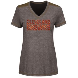 Women's Majestic Cleveland Browns Bright Lights Tee