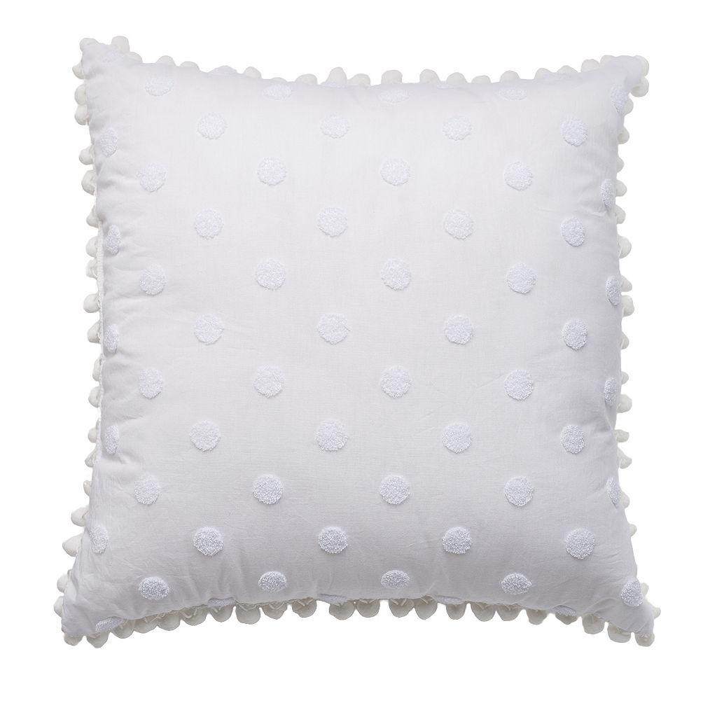 LC Lauren Conrad Polka Dot Throw Pillow