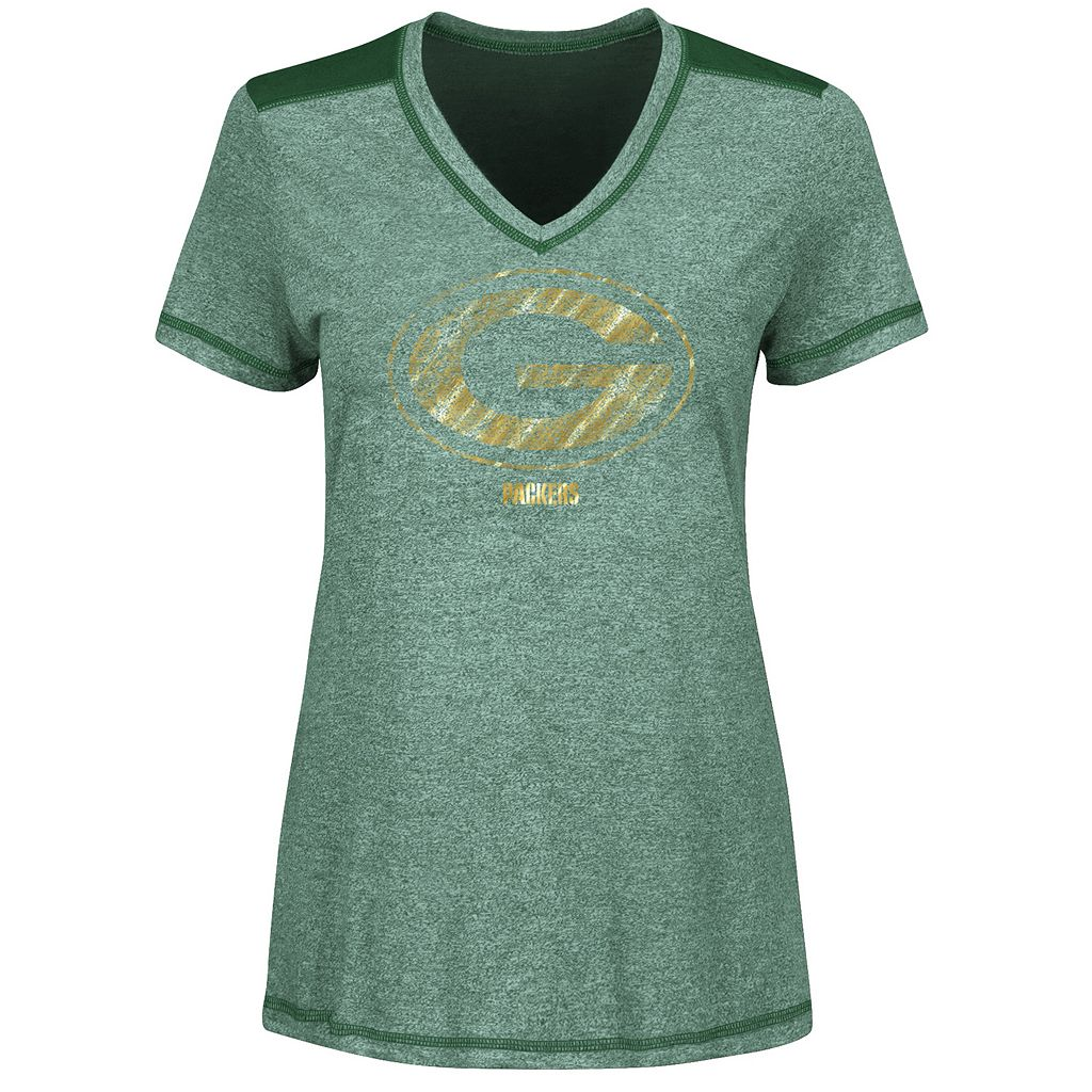 Women's Majestic Green Bay Packers Bright Lights Tee