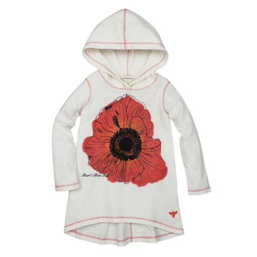 Toddler Girl Burt's Bees Baby Hooded Poppy Tunic