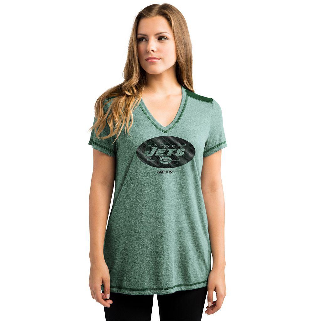 Women's Majestic New York Jets Bright Lights Tee
