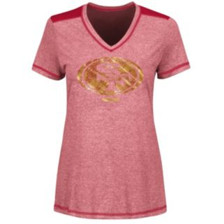 Women's Majestic San Francisco 49ers Bright Lights Tee