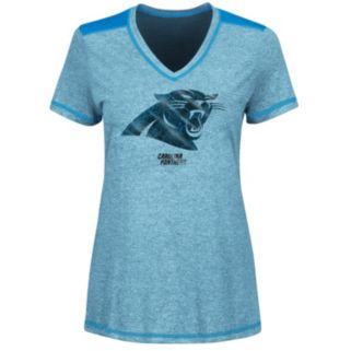 Women's Majestic Carolina Panthers Bright Lights Tee